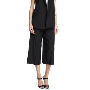 Theory Halientra cropped culotte pant Black